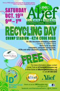 Flyer from Keep Alief Clean and Green